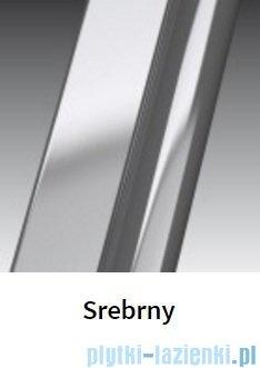 Novellini Drzwi do wnęki z elementem stałym GIADA G+F 126 cm lewe szkło przejrzyste profil srebrny GIADNGF126S-1B