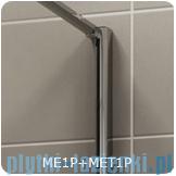 SanSwiss Melia MET1 ścianka lewa 120x200cm krople MET1PG01201044