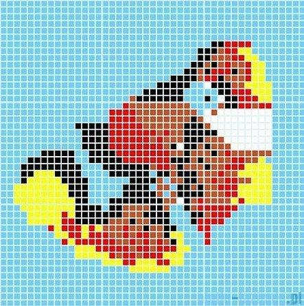 Dunin Q design mozaika szklana wzór 98x98 koi