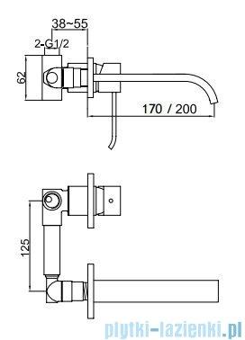 Kohlman Axis bateria podtynkowa umywalkowa chrom QW183N