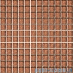 Paradyż mozaika szklana brown brokat 29,8x29,8