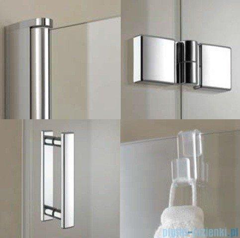 Kermi Diga Drzwi wahadłowo-składane do ściany bocznej, lewe, szkło przezroczyste, profile białe 75x200 DI2SL075202AK
