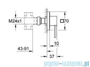 Grohe Allure element zewnętrzny zaworu podtynkowego chrom 19384000
