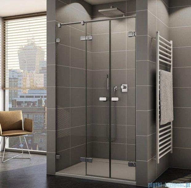 Sanswiss Melia ME32 Drzwi prysznicowe lewe z uchwytami do 200cm przejrzyste ME32WGSM21007