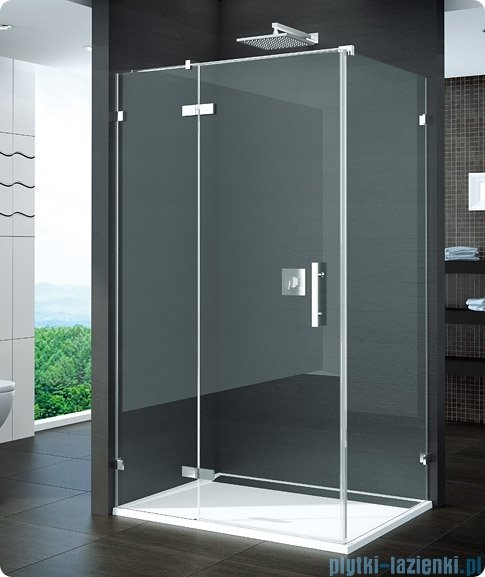 SanSwiss Pur PURDT2 Ścianka boczna 100-160cm profil chrom szkło Efekt lustrzany PURDT2SM41053