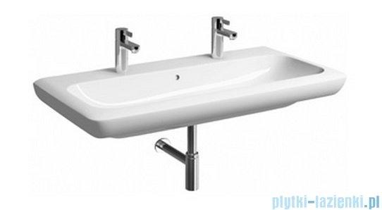 Koło Life! umywalka 100cm z dwoma otworami na baterie biała M21510