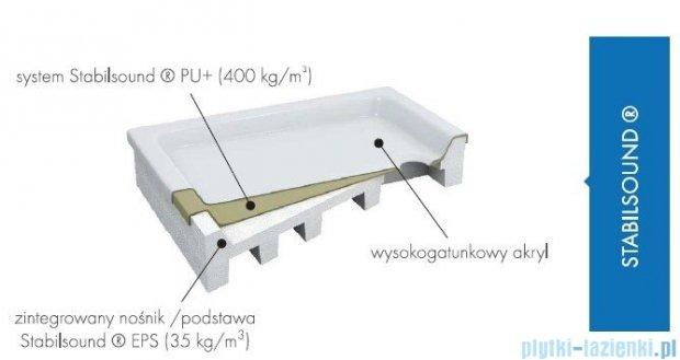 Schedpol Competia brodzik akrylowy z nośnikiem 90x80x14cm 3.0183