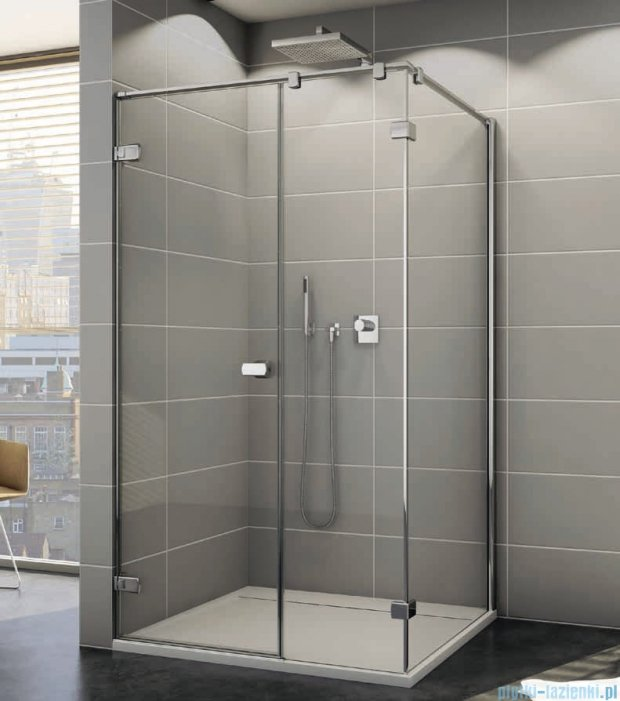 Sanswiss Melia ME31P Kabina prysznicowa lewa 90x80cm przejrzyste ME31PG0901007/MET3PD0801007