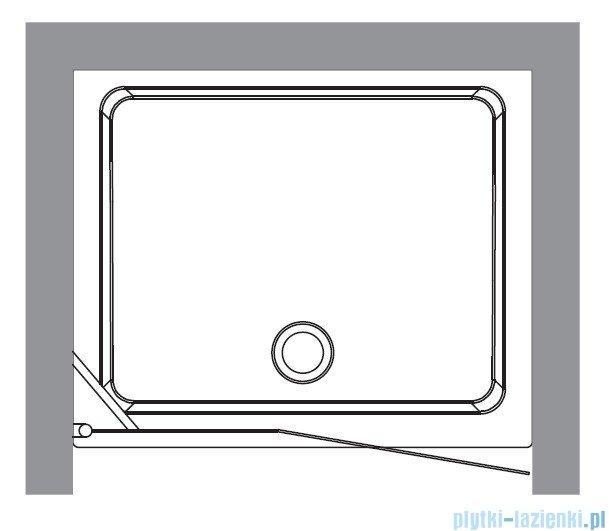 Kerasan Drzwi prysznicowe prawe, szkło piaskowane profile chrom 92x180 Retro 9139S0
