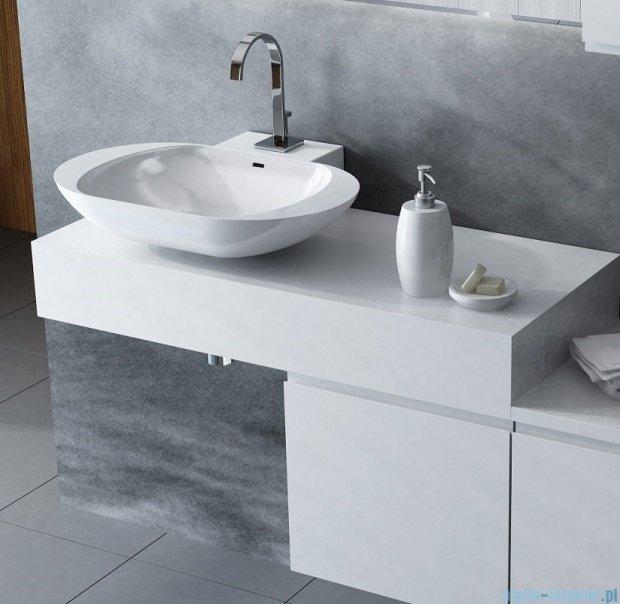 Antado Combi szafka lewa z blatem lewym i umywalką Mia biały/ciemne drewno ALT-141/45-L-WS/dp+ALT-B/1-1000x450x150-WS+UCS-TC-60