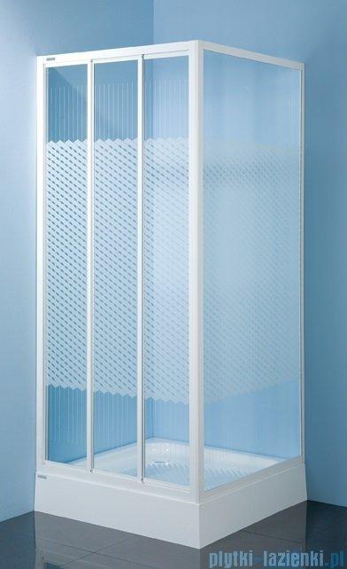 Sanplast kabina narożna kwadratowa KN/DTr-c-90 szkło: Sitodruk W4 600-013-0331-01-410