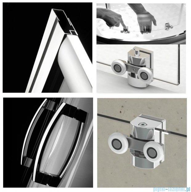 Radaway Premium Plus B Kabina półokrągła z drzwiami jednoczęściowymi 90x90 szkło grafitowe 30473-01-05N