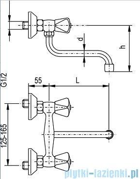 KFA STANDARD Bateria zlewozmywakowa ścienna 320-480-00