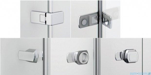 Sanswiss Melia ME31P Kabina prysznicowa prawa 140x120cm przejrzyste ME31PD1401007/MET3PG1201007