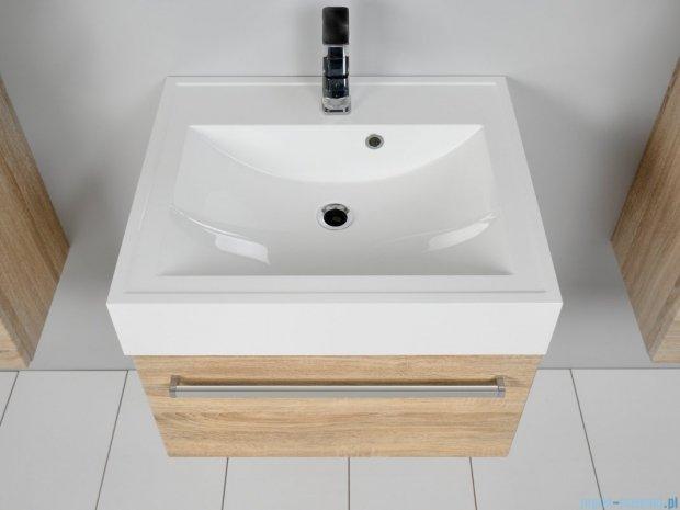 Antado Spektra szafka z umywalką, wisząca 60x50x33 dąb Samba FDF-442/6GT-62 + UNA-600