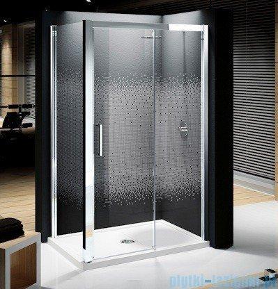 Novellini Elysium Kuadra 2P Drzwi przesuwne 156cm Prawe szkło przejrzyste profil chrom KUAD2P156D-1K