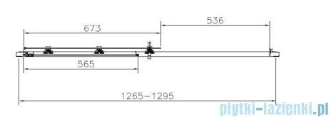 Roca Town Drzwi do wnęki prysznicowej 2częściowe 130 130x195,5cm szkło przezroczyste AMP181301M