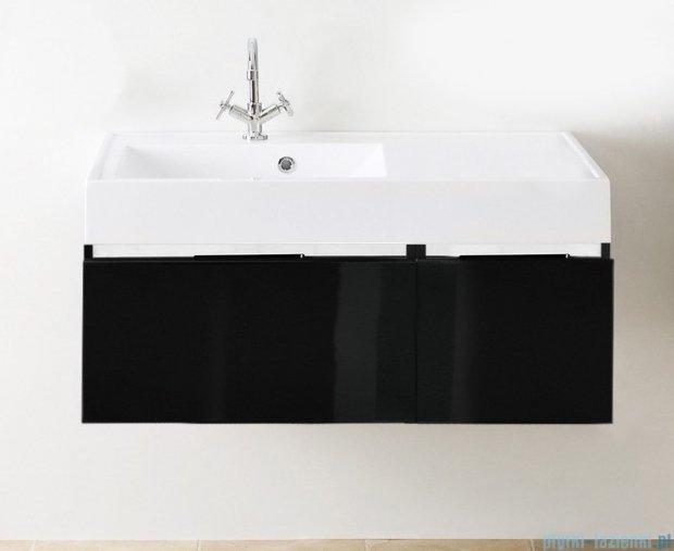Antado Cantare szafka z umywalką lewą 100x50x33 czarny połysk FSM-342/6GT-48/48+FSM-342/4GT-48/48+UNAM-1004L