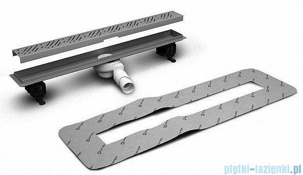 Radaway Steel Odpływ liniowy 65x8cm 5L065B,5R065S