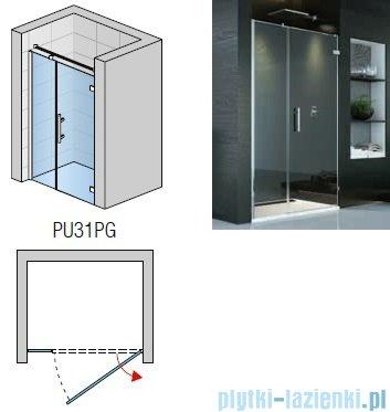 SanSwiss Pur PU31P Drzwi prawe 140x200cm efekt lustrzany PU31PD1401053