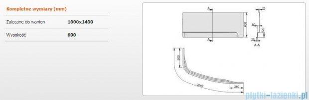 Sanplast Obudowa do wanny Free Line prawa, OWAP/FREE 100x140 cm 620-040-1440-01-000