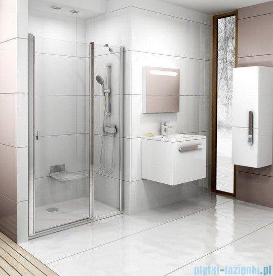 Ravak Chrome Drzwi prysznicowe CSD2-110 satyna+transparent 0QVDCU00Z1