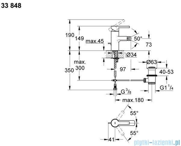 Grohe Lineare jednouchwytowa bateria bidetowa DN 15 33848000