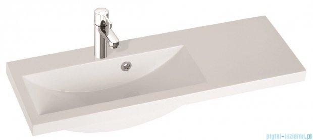 Marmorin umywalka nablatowa Talia 90L, 90 cm lewa bez otworu biała 270090722010