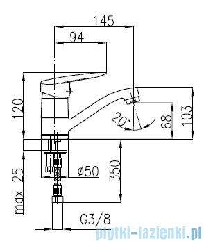 KFA SALIT Bateria umywalkowa stojąca 4502-915-00
