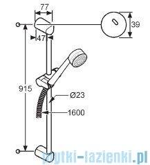 Kludi Zenta Zestaw natryskowy 3S dł.90cm chrom 6084005-00