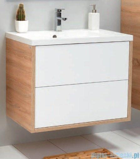 Antado Grande szafka z umywalką 79x50cm dąb Sonoma+biały GR-140/80-3025/WS+UMMR-800C