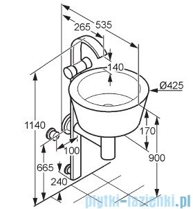 Kludi Joop Kolumna umywalkowa chrom/Varicor Arctis 55115D2