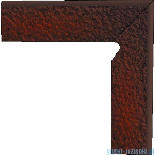 Paradyż Cloud brown duro klinkier cokół schodowy prawy 8x30