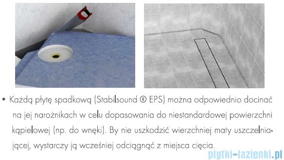 Schedpol brodzik posadzkowy podpłytkowy z odpływem Stamp 140x80x5cm 10.009/OLDB/SP