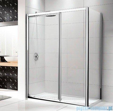 Novellini Drzwi prysznicowe LUNES G+F 102 cm szkło przejrzyste profil chrom LUNESGF102-1K