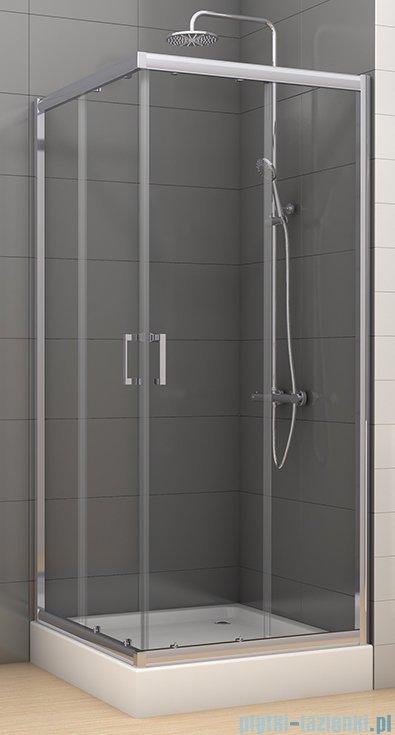 New Trendy Varia kabina prysznicowa 80x80x185 cm szkło grafitowe K-0224