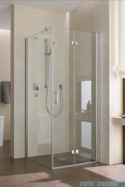 Kermi Diga Drzwi wahadłowo-składane do ściany bocznej, prawe, szkło przezroczyste, profile srebrne 120x200 DI2SR12020VAK