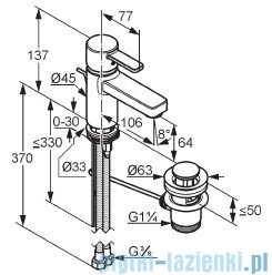 Kludi Zenta Bateria umywalkowa chrom 382500575