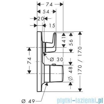 Hansgrohe Axor Bouroullec Bateria termostatyczna podtynkowa z zaworem odcinającym 19704000