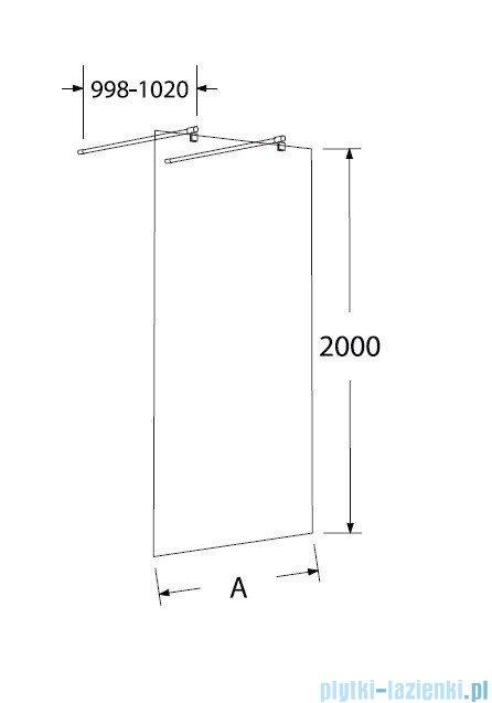 Sea Horse Easy In ścianka prysznicowa typu Walk In  120 cm przejrzyste BK252T12