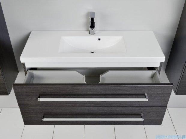 Antado Spektra szafka z umywalką, wisząca 100x39x40 grafit połysk FDF-C-442/10/2GT-46 + UMMC-1000x390