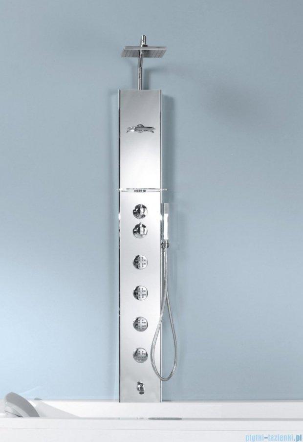 Novellini Aqua 1 Cascata 2 panel prysznicowy lustrzany bateria termostatyczna CASC2VT-W