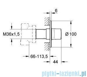 Grohe Ondus przełącznik pięciodrożny chrom 19448000