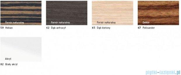 Duravit 2nd floor obudowa meblowa do wanny #700162 do wersji przyściennej heban 2F 8902 59