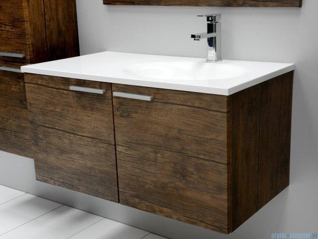Antado Sycylia szafka z umywalką prawa 90x48x45 stare drewno KTS-140/2-50R + UMMO-900-03R