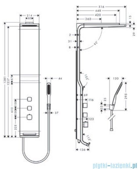 Hansgrohe Panel prysznicowy Raindance Lift 180 2jet DN15 27008000