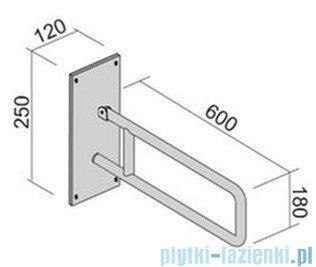 Roca Dostępna łazienka Uchwyt ścienny 60cm do montażu przy Wc A81000070A