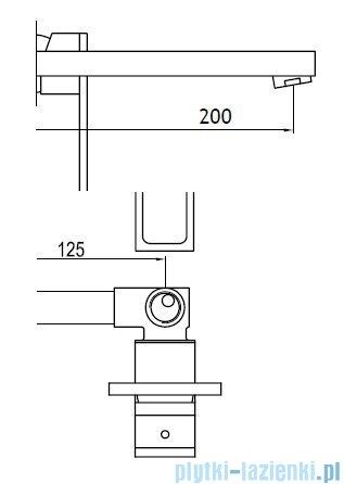 Kohlman Nexen Podtynkowa bateria umywalkowa QW183U