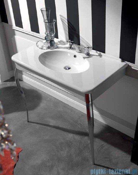Kerasan Retro Umywalka biała z nogami brązowymi 100x55 cm 1049K3
