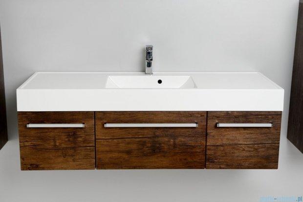 Antado Spektra szafka z umywalką, wisząca 140 stare drewno FDF-442/4GT-50 + FDF-442/6GT-50 + FDF-442/4GT-50 + UNAM-1404C